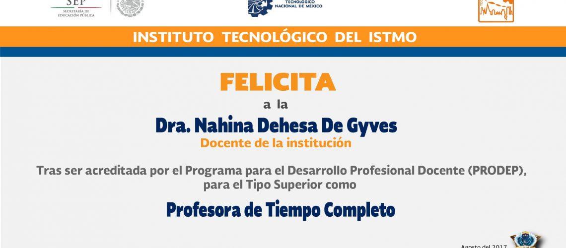2. Felicitación Nahina